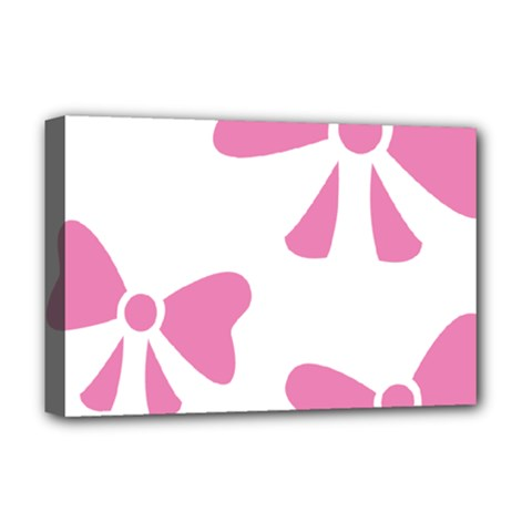 Bow Ties Pink Deluxe Canvas 18  x 12