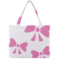 Bow Ties Pink Mini Tote Bag