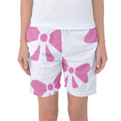 Bow Ties Pink Women s Basketball Shorts