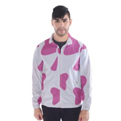 Bow Ties Pink Wind Breaker (Men)