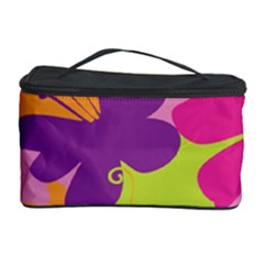 Butterfly Animals Rainbow Color Purple Pink Green Yellow Cosmetic Storage Case