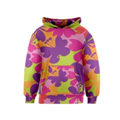 Butterfly Animals Rainbow Color Purple Pink Green Yellow Kids  Pullover Hoodie