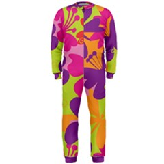 Butterfly Animals Rainbow Color Purple Pink Green Yellow OnePiece Jumpsuit (Men)