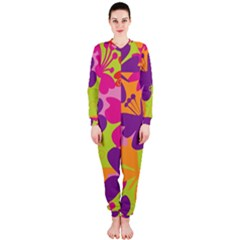 Butterfly Animals Rainbow Color Purple Pink Green Yellow OnePiece Jumpsuit (Ladies)
