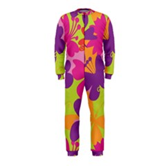 Butterfly Animals Rainbow Color Purple Pink Green Yellow Onepiece Jumpsuit (kids)