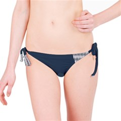 Argyle Triangle Plaid Blue Grey Bikini Bottom