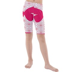 Butterfly Animals Pink Plaid Triangle Circle Flower Kids  Mid Length Swim Shorts