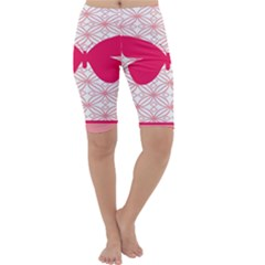 Butterfly Animals Pink Plaid Triangle Circle Flower Cropped Leggings