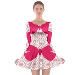 Butterfly Animals Pink Plaid Triangle Circle Flower Long Sleeve Skater Dress