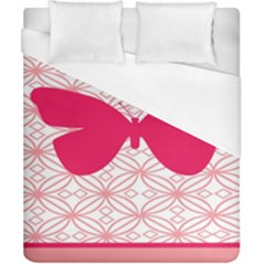 Butterfly Animals Pink Plaid Triangle Circle Flower Duvet Cover (california King Size)