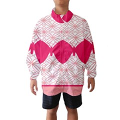 Butterfly Animals Pink Plaid Triangle Circle Flower Wind Breaker (Kids)