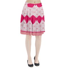 Butterfly Animals Pink Plaid Triangle Circle Flower Pleated Skirt