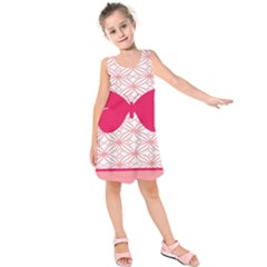 Butterfly Animals Pink Plaid Triangle Circle Flower Kids  Sleeveless Dress