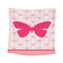 Butterfly Animals Pink Plaid Triangle Circle Flower Square Tapestry (small)