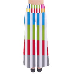 Color Bars Rainbow Green Blue Grey Red Pink Orange Yellow White Line Vertical Pants