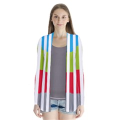 Color Bars Rainbow Green Blue Grey Red Pink Orange Yellow White Line Vertical Cardigans