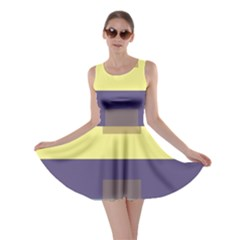 Color Therey Orange Yellow Purple Blue Skater Dress