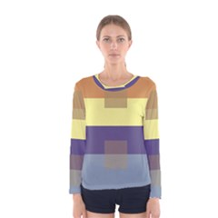 Color Therey Orange Yellow Purple Blue Women s Long Sleeve Tee