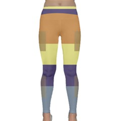 Color Therey Orange Yellow Purple Blue Classic Yoga Leggings