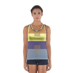 Color Therey Orange Yellow Purple Blue Women s Sport Tank Top