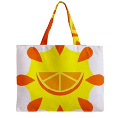 Citrus Cutie Request Orange Limes Yellow Medium Zipper Tote Bag
