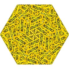 Caution Road Sign Cross Yellow Mini Folding Umbrellas