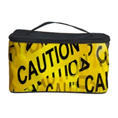Caution Road Sign Cross Yellow Cosmetic Storage Case