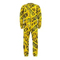 Caution Road Sign Cross Yellow OnePiece Jumpsuit (Kids)