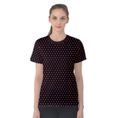 Colored Circle Red Black Women s Cotton Tee