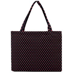Colored Circle Red Black Mini Tote Bag