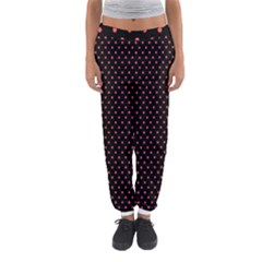 Colored Circle Red Black Women s Jogger Sweatpants