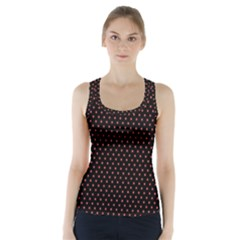 Colored Circle Red Black Racer Back Sports Top