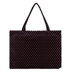 Colored Circle Red Black Medium Tote Bag