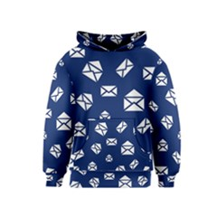 Envelope Letter Sand Blue White Masage Kids  Pullover Hoodie