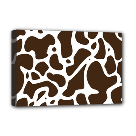 Dalmantion Skin Cow Brown White Deluxe Canvas 18  x 12