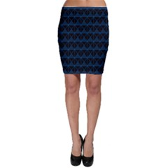Colored Line Light Triangle Plaid Blue Black Bodycon Skirt