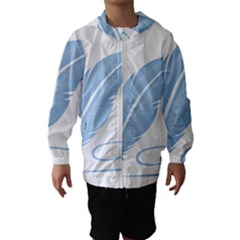 Feather Pen Blue Light Hooded Wind Breaker (Kids)