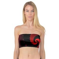 Red Fractal Spiral Bandeau Top