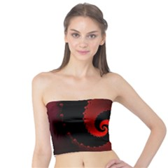 Red Fractal Spiral Tube Top