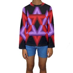 Star Of David Kids  Long Sleeve Swimwear