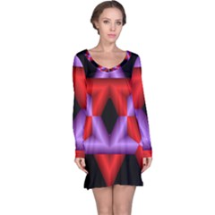 Star Of David Long Sleeve Nightdress