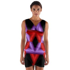 Star Of David Wrap Front Bodycon Dress