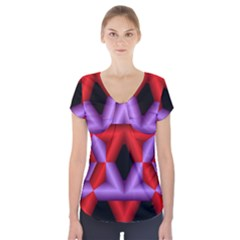 Star Of David Short Sleeve Front Detail Top