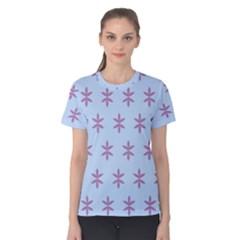 Flower Floral Different Colours Blue Purple Women s Cotton Tee