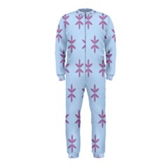 Flower Floral Different Colours Blue Purple OnePiece Jumpsuit (Kids)