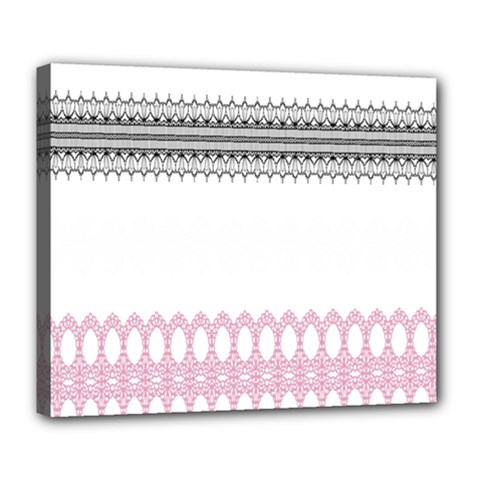 Crown King Quinn Chevron Wave Pink Black Deluxe Canvas 24  x 20