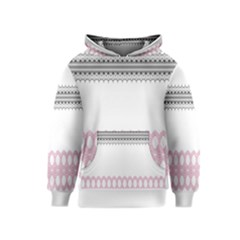 Crown King Quinn Chevron Wave Pink Black Kids  Pullover Hoodie