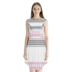 Crown King Quinn Chevron Wave Pink Black Sleeveless Chiffon Dress