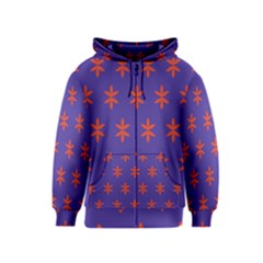 Flower Floral Different Colours Purple Orange Kids  Zipper Hoodie