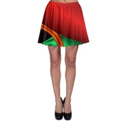 Fractal Construction Skater Skirt